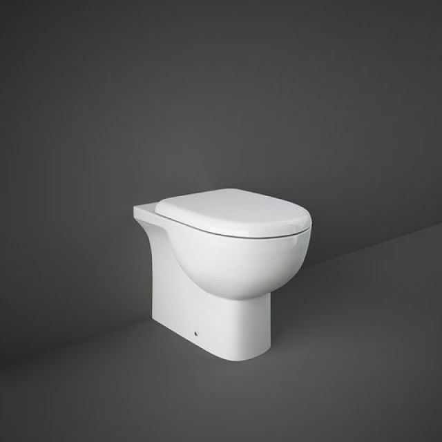 RAK Tonique Floor Standing Back to Wall Toilet Pan with Seat - TONBTWPAN015
