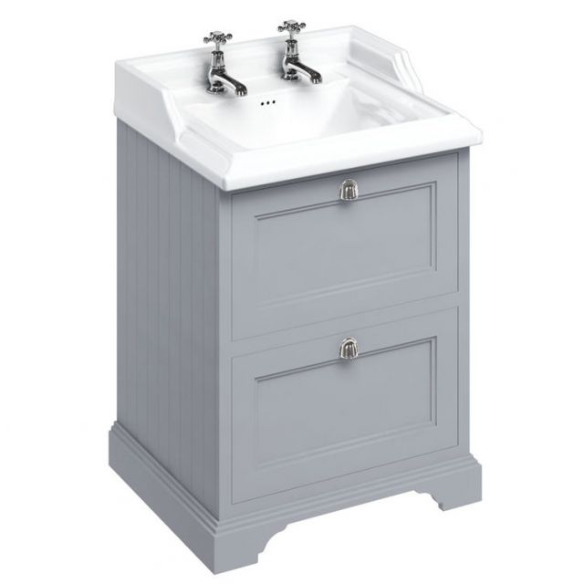 Burlington 65cm 2 Drawer Vanity with Classic Basin
