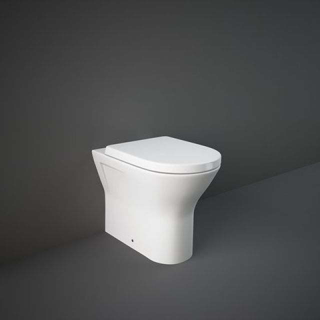 RAK Resort Comfort Height Floor Standing Back to Wall Rimless Toilet
