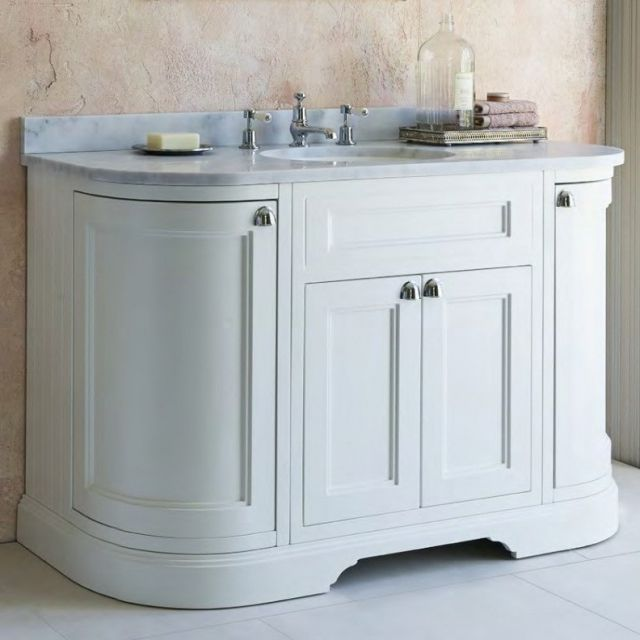 Burlington 134cm Curved 4 Door Vanity