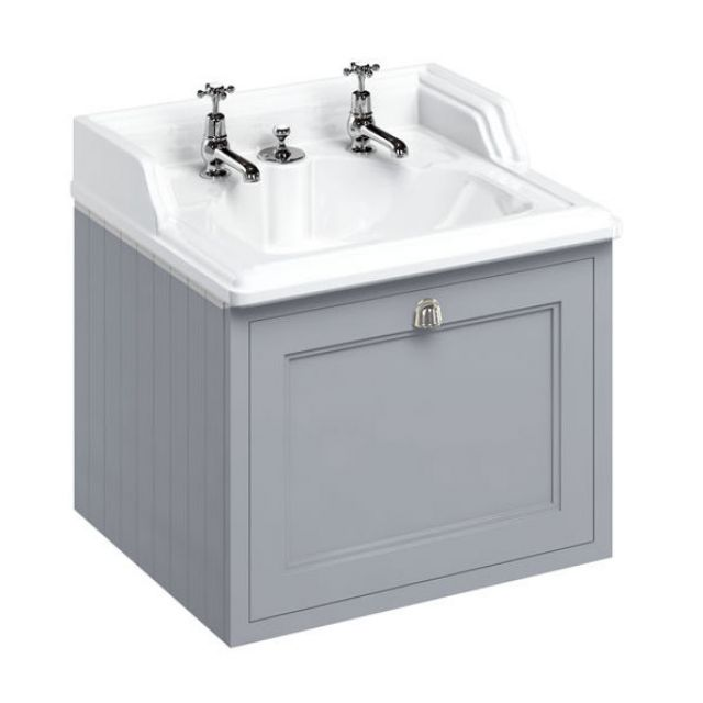 Burlington 65cm 1 Drawer Vanity with Classic Basin and Integrated Waste
