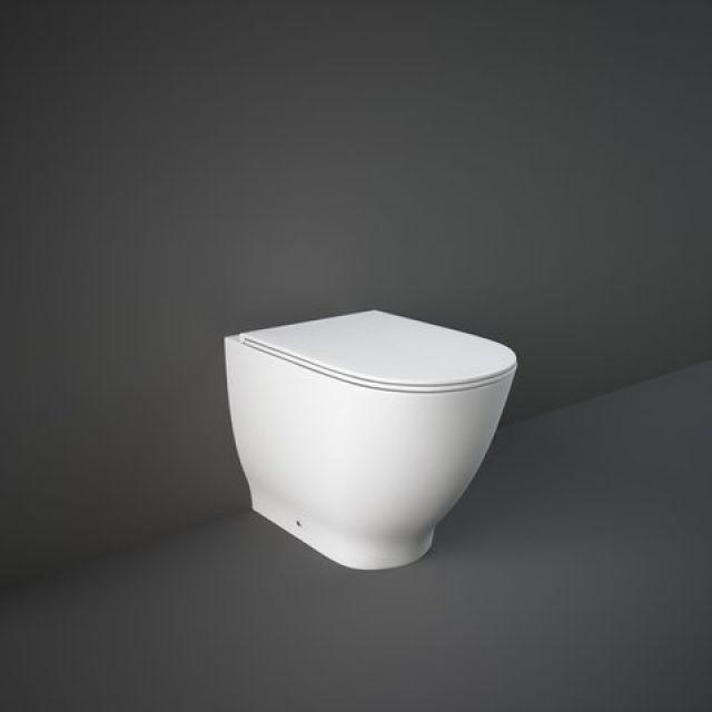 RAK Moon Back to Wall Toilet Pan with Slimline Seat