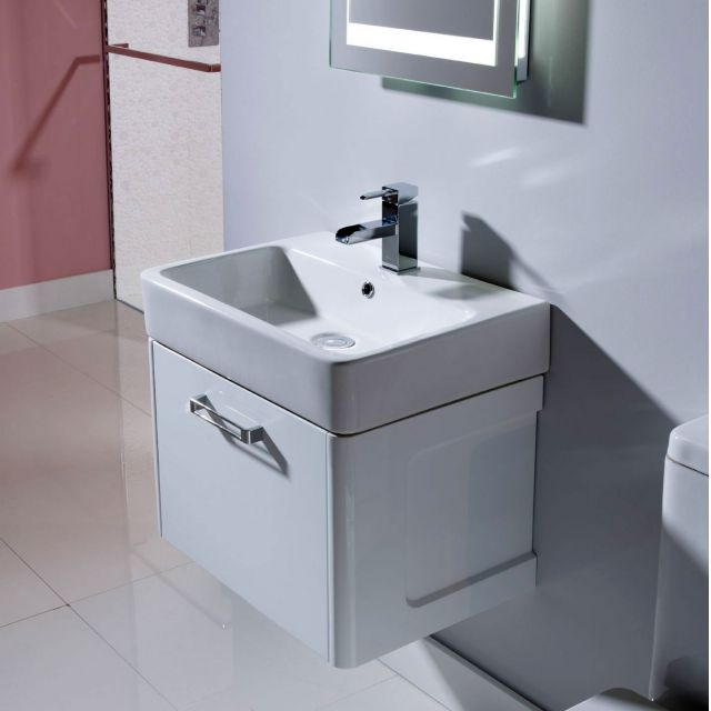 Tavistock Q60 Wall Mounted Vanity Unit with Basin