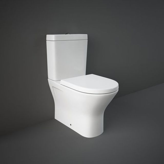 RAK Resort Close Coupled Mini Back to Wall Rimless Toilet Suite