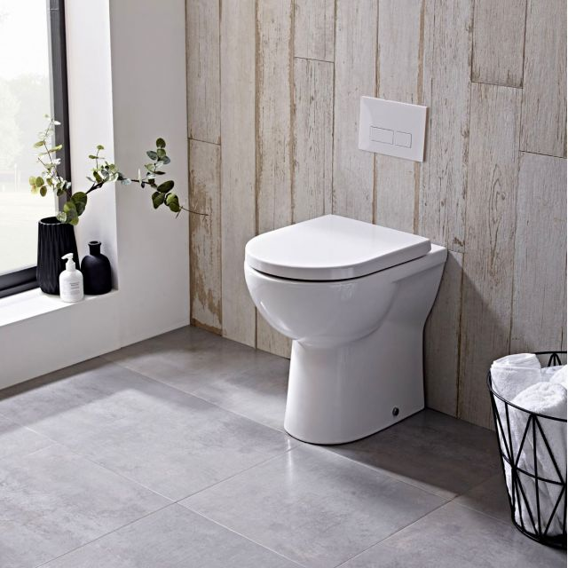 Tavistock Ion Comfort Height Back to Wall Toilet - BTWC100S
