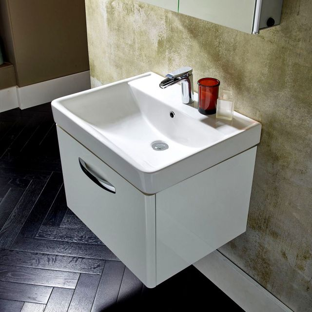 Tavistock Compass Wall Hung Vanity Unit with Basin
