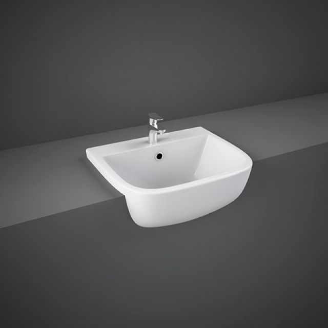 RAK Series 600 420mm Semi-Recessed Wash Basin