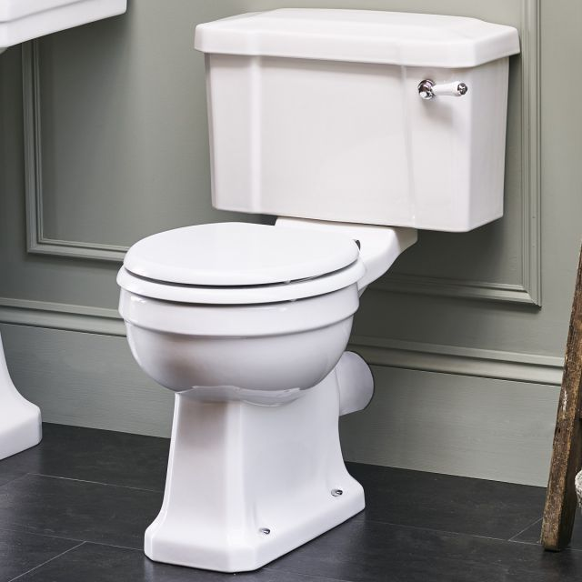 Burlington Close Coupled Rimless Toilet