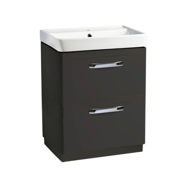 Tavistock Compass Freestanding Vanity Unit with Two Drawers