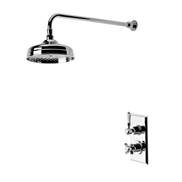 Tavistock Varsity Thermostatic Concealed Shower Mixer with Overhead Shower - SVA0214