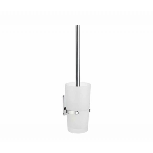Smedbo Pool Toilet Brush including Container in Frosted Glass ZK333