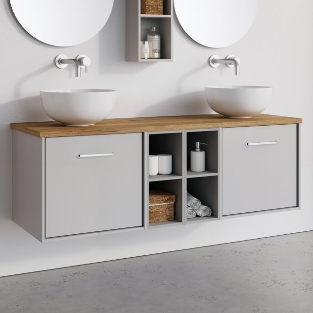 Crosswater Infinity 2 Drawer 140cm Unit with Shelves