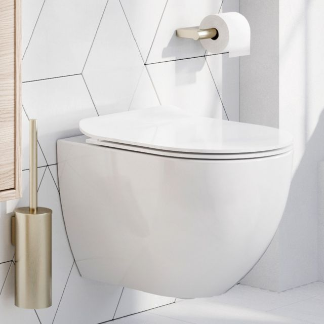 Crosswater Glide II Wall Hung Rimless Compact WC