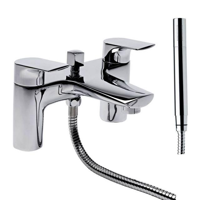 Tavistock Strike Bath Filler with Shower Handset - TSE42