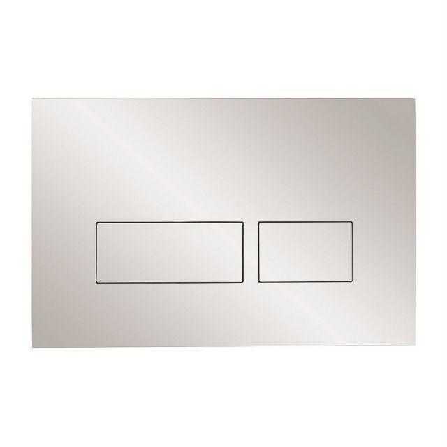 Crosswater MPRO Chrome Flush Plate - TEFLUSHC+
