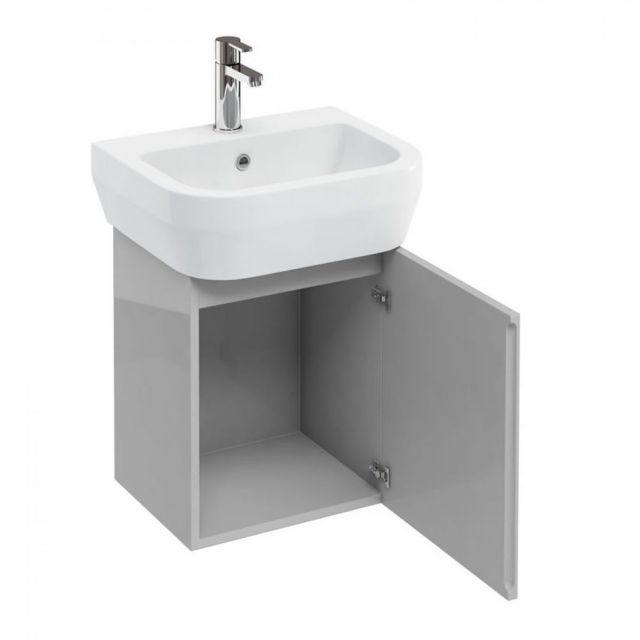 Britton Aquacube Compact Cloakroom Wall Hung Unit & Basin