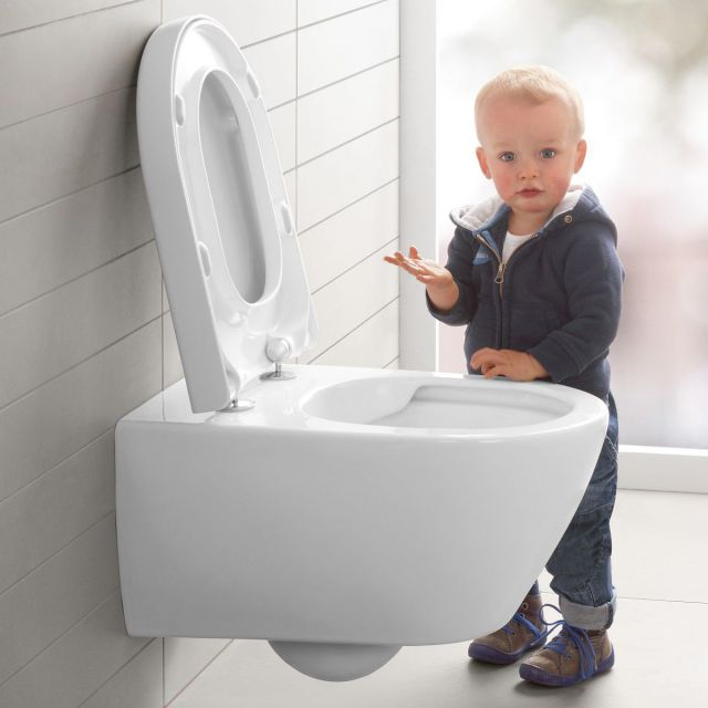 Villeroy and Boch Subway 2.0 Rimless Wall Hung WC with ViFresh - 5614A1R1