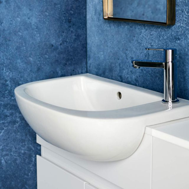 Britton Compact Semi-recessed Washbasin