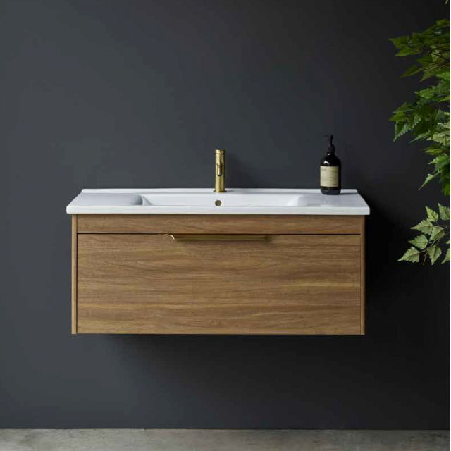Britton Shoreditch Wall Hung 1 Drawer Vanity Unit with Basin