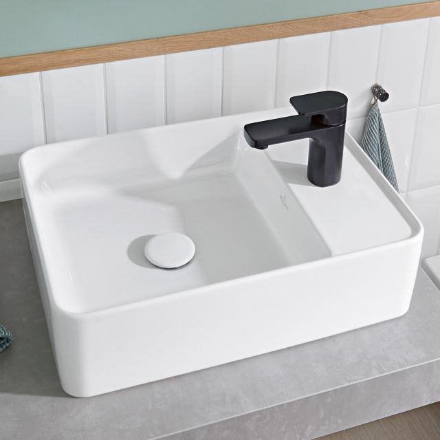 Villeroy and Boch Collaro Rectangular Countertop Basin with Tapledge