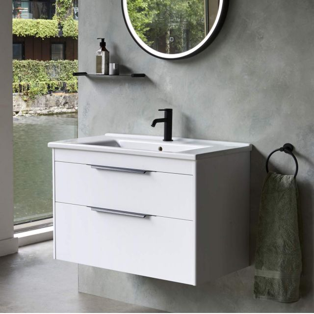 Britton Shoreditch Wall Hung 2 Drawer Vanity Unit with Basin