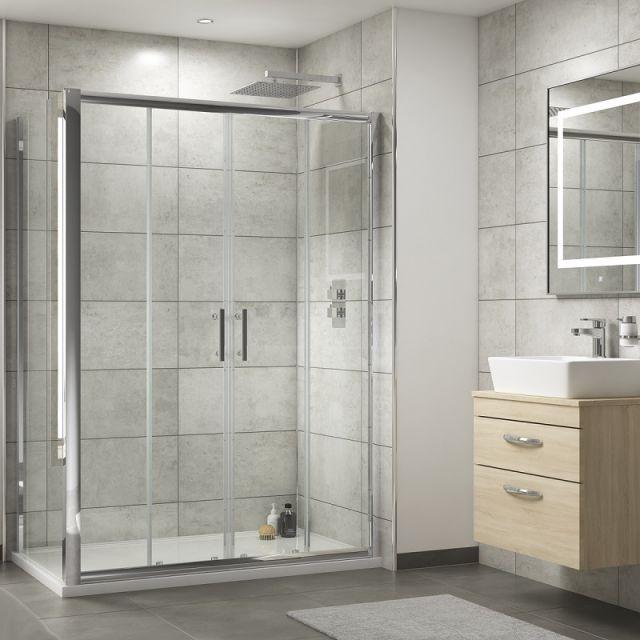 UK Bathrooms Essentials Double Sliding Shower Door