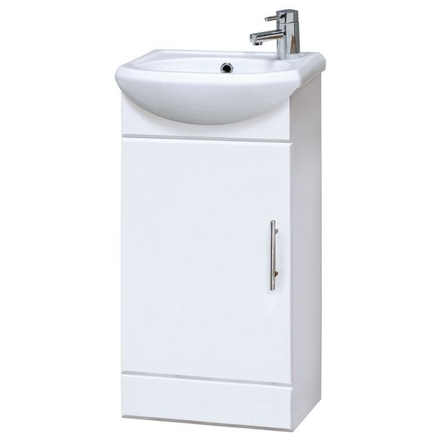 UK Bathrooms Essentials Newby 420mm Cloakroom Vanity Unit