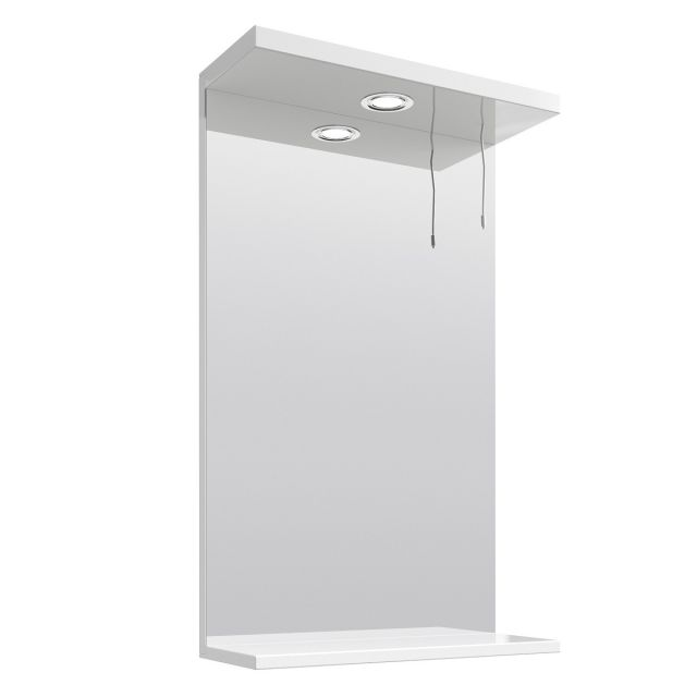 UK Bathrooms Essentials Newby 450mm Illuminated Bathroom Mirror