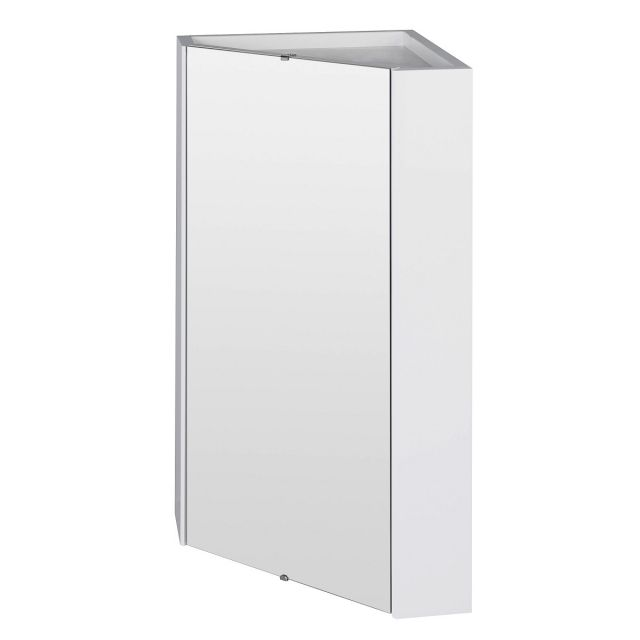 UK Bathroom Essentials Newby Corner Mirror Cabinet