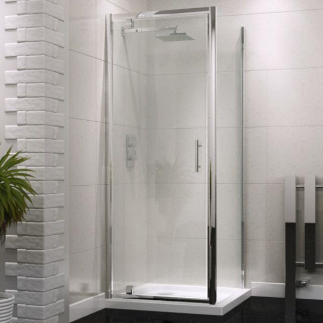 UK Bathrooms Essentials Pivot Shower Door