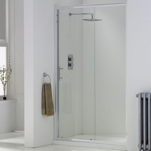 UK Bathrooms Essentials Single Sliding Shower Door