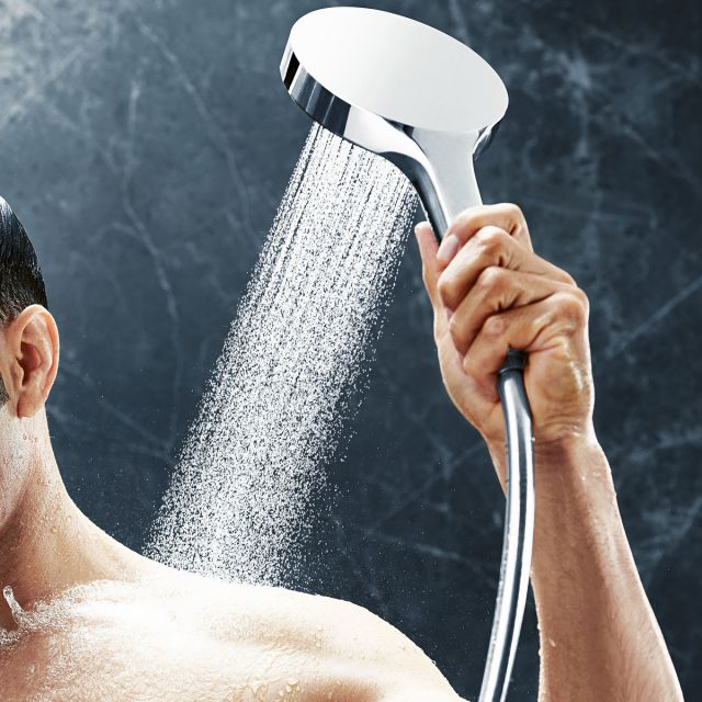 hansgrohe Rainfinity 130mm 3-Jet Shower Set with 90cm Rail