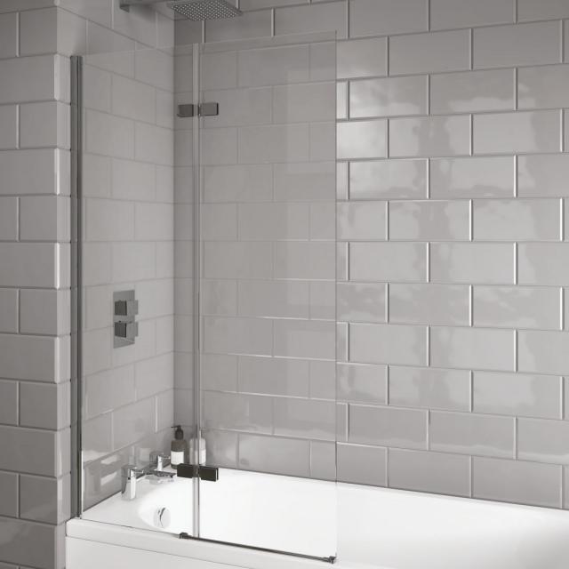 UK Bathrooms Essentials Inswing Bath Screen