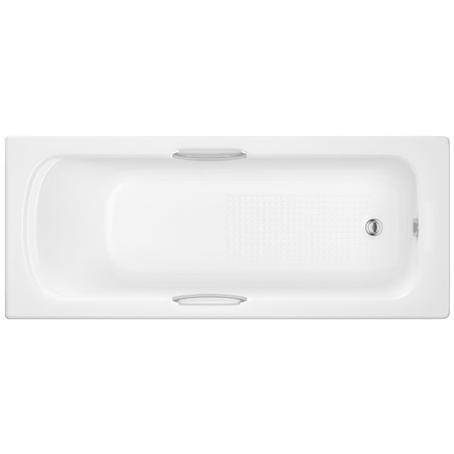 UK Bathrooms Essentials Fuchsia Single Ended Bath