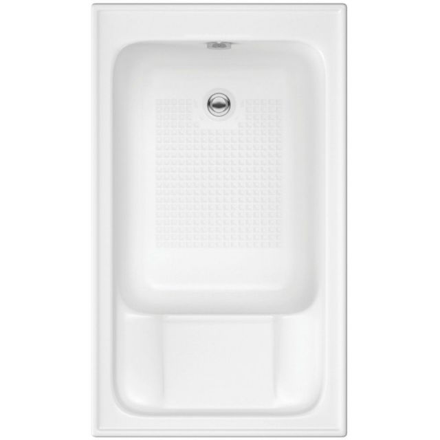 UK Bathrooms Essentials Jasmine Single Ended Sit-In Bath