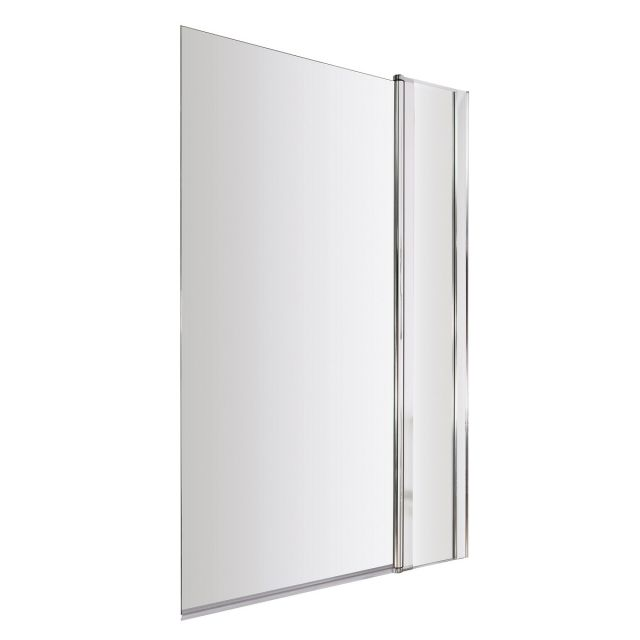 UK Bathrooms Essentials Square Bath Screen with Fixed Panel