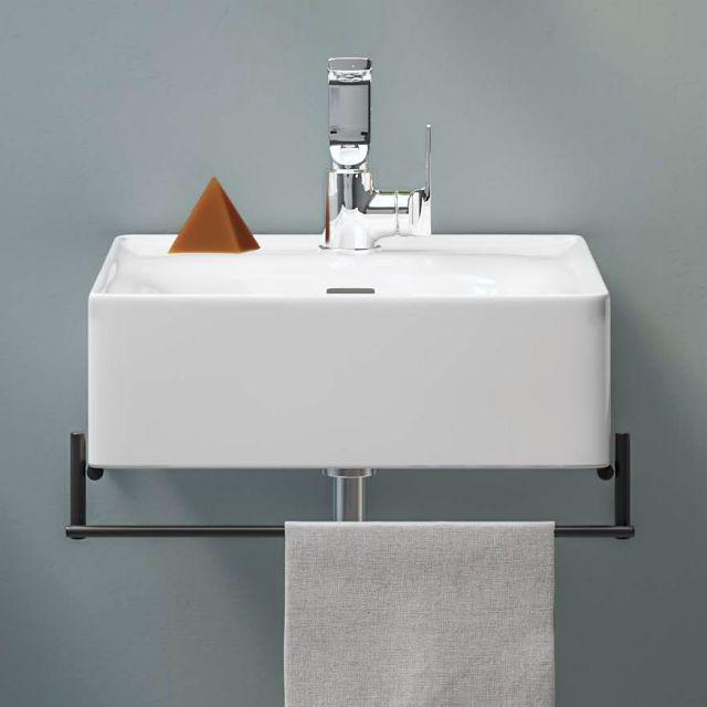 VitrA Equal Basin with Black Towel Rail