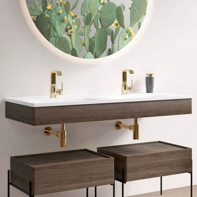 VitrA Equal Double Vanity Unit with Twin Bowls - 64098