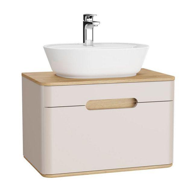 VitrA Sento 1 Drawer Medium Vanity Unit for Washbowls