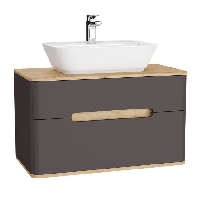 VitrA Sento 2 Drawer Large Vanity Unit for Washbowls