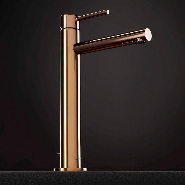 VitrA Origin Copper Extra Tall Basin Mixer Tap