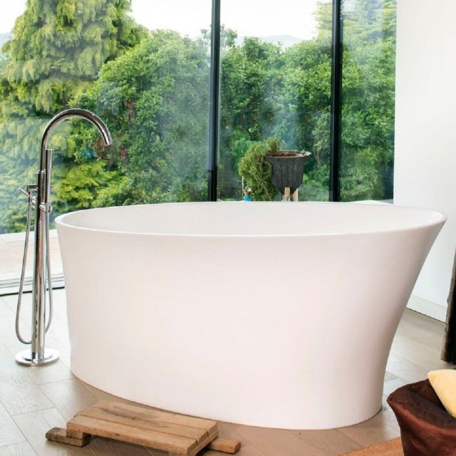 BC Designs Delicata Freestanding Slipper Cian Bath