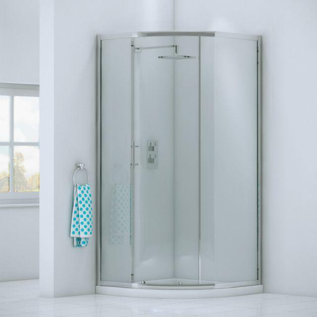 UK Bathrooms Essentials Quadrant Shower Door