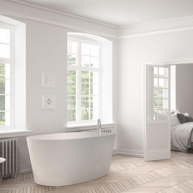 BC Designs Sorpressa Freestanding Slipper Cian Bath