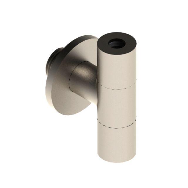Brushed Nickel Designer Angled Isolation Valve - EPAC-05-0720