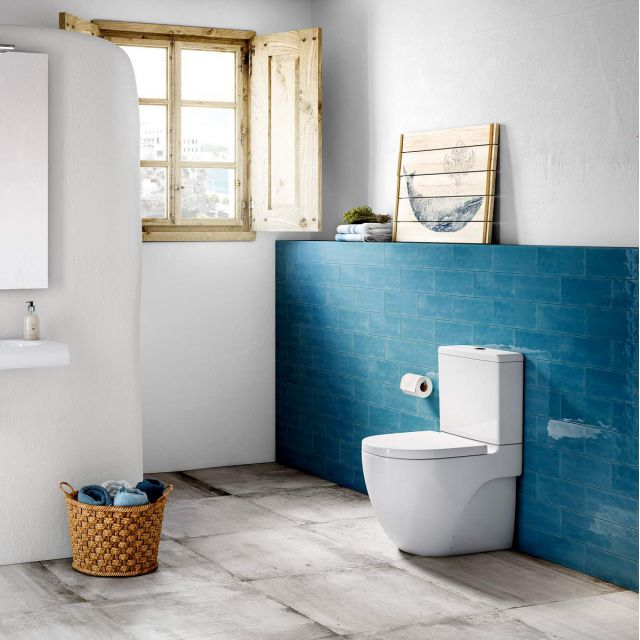 Roca Meridian-N Compact Rimless Close Coupled Toilet - 34224L000