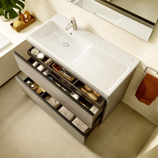 Roca Lander 2 Drawer Vanity Unit