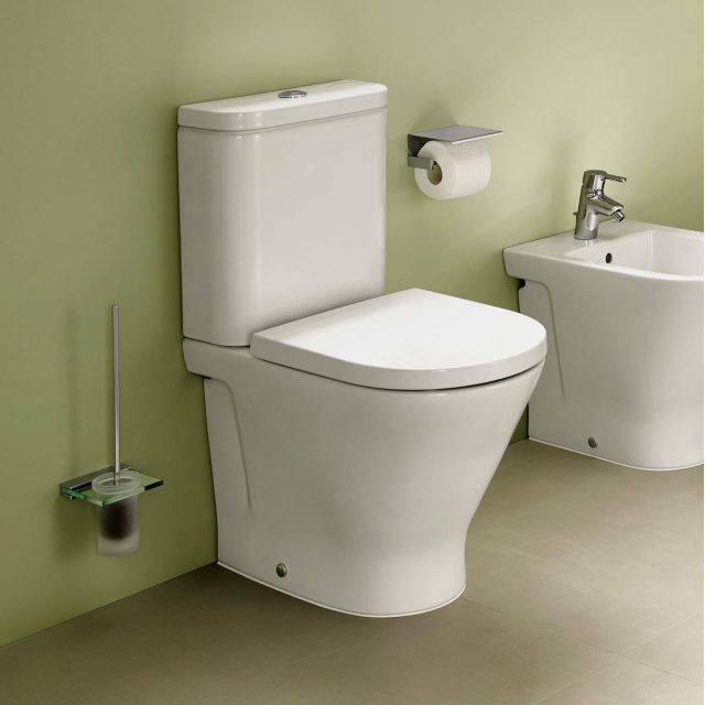 Roca The Gap Closed Back Rimless Close Coupled Toilet