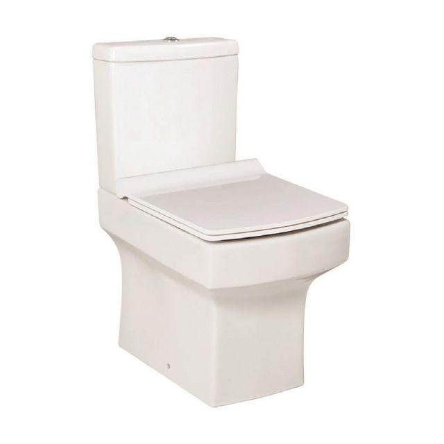 UK Bathrooms Essentials Claro Open Back Close Coupled Toilet Suite