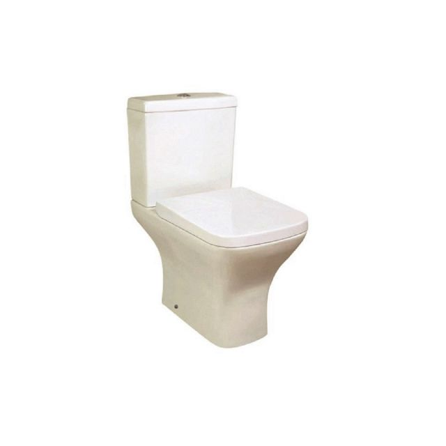 UK Bathrooms Essentials Bedern Open Back Close Coupled Toilet Suite